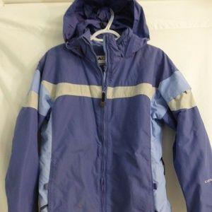 Columbia Sportswer Vintage blue jacket w hoodie